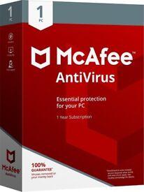 McAfee 2018 AntiVirus / 1 Device/ 1Year licence