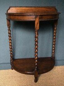 Antique barley Twist Side table