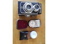 Vintage delmonta camera with Weston meter