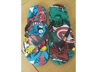 Mens Marvel Flip Flops