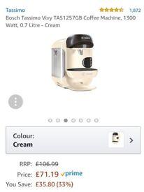 Bosch Tassimo Coffee machine in Cream