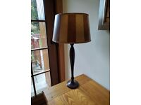 Lovely gold and brown lamp and light shade