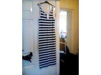 Bran new Black and White Stripe Dress Size M.