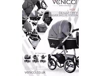Venicci Travel 3 In 1 System (Special Edition) Grey/Silver Chrome Chassis