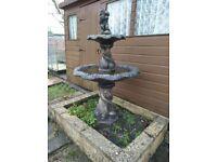 Large garden fountain