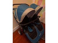 Almost NEW Baby Jogger City Mini Double Stroller + FREE accessories!! Double pushchair / buggy