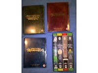 Lord of the rings book box set and DVD set