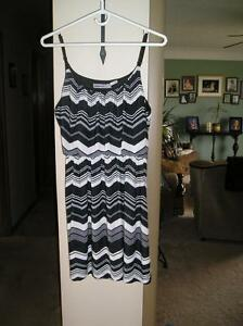Ladies Black & White Dress