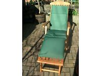 Steamer Recliner Garden Chair - excellent condition