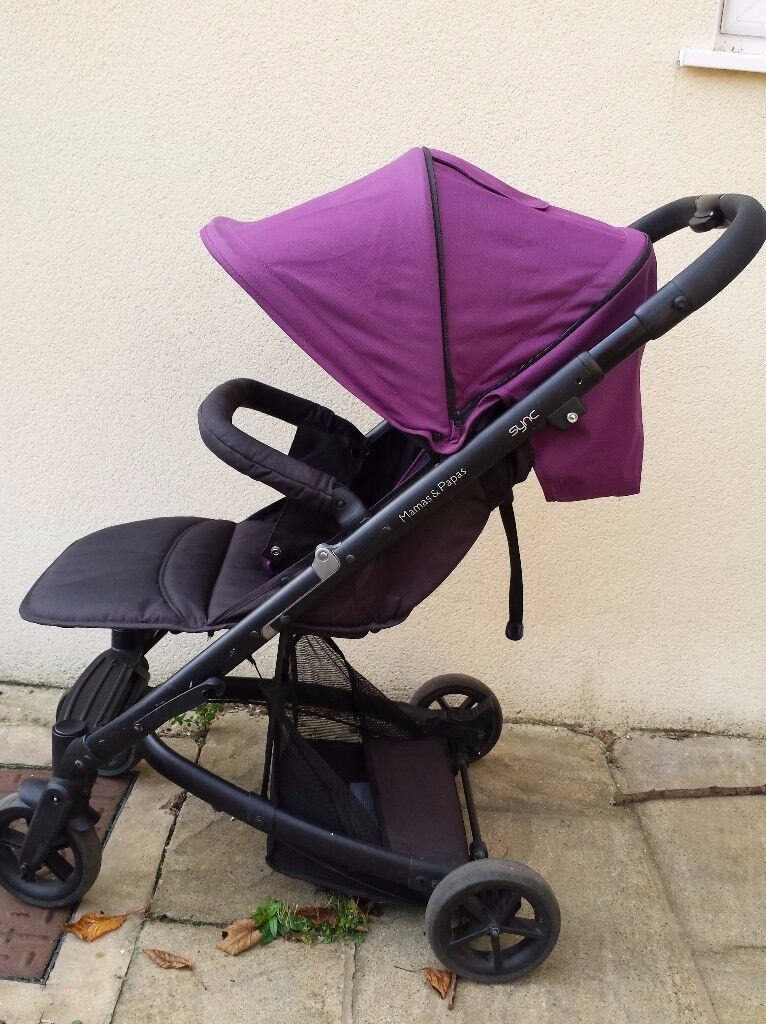 Purple Mamas & Papas 'Sync' Pushchair