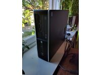 HP Slimline Desktop PC with 2 Monitors and Accessories