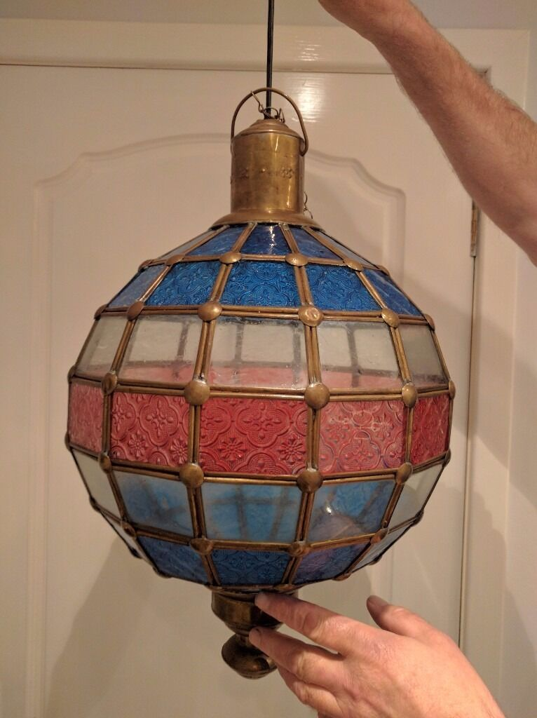 Vintage globe glass lampshade