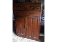 LOVELY SOLID WOOD UNIT 2 OPENING DRAWERS AND TWO OPENING DOORS WITH SHELVES IDEAL TO SHABBY CHIC