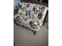 Pink Floral Statement Chair love seat