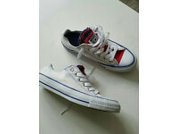 Converse white shoes (used once only) like a new