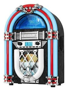 Jukebox avec lecteur CD, radio FM, Bluetooth...