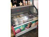 sevel ice cream display counter
