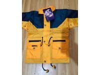 Kids children's unisex waterproof light weight rain coats