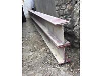 Pair of 4.5m steel beams / RSJs