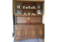 Oak Solid Wood Kitchen Dining Room Dresser / Sideboard / Hutch