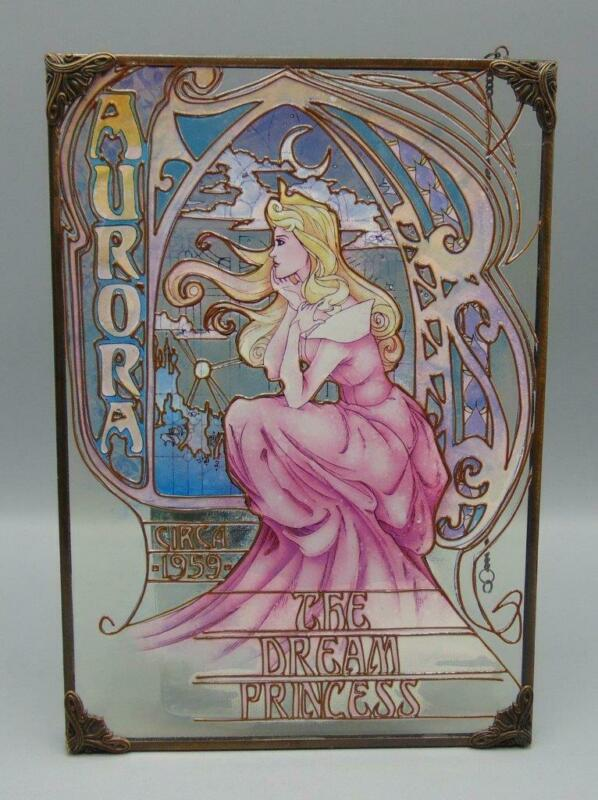Disney Store Nouveau Collection Aurora The Dream Princess Stained Glass Windo...