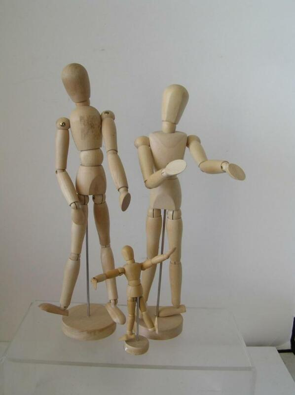 Drawing Mannequin Body Human Artist Model Jointed Posable Articulated Wood 3