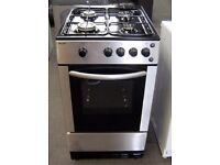 Bush 50cm Silver Gas Cooker, FSD Hobs, 6 Month Cover