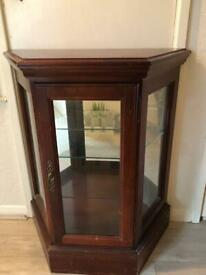 Good Quality Antique Mirrored/Wooden Desk or Show Table