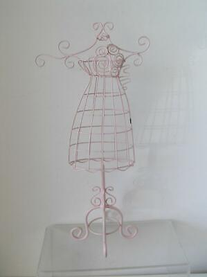 Table Top Pink Mini Wire Metal Dress Form Mannequin Decorative Holder Display