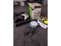 Xbox 360 with 20 games, kinect, 2 controllers.