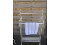 Laura Ashley cream free standing wrought iron Towel Rail