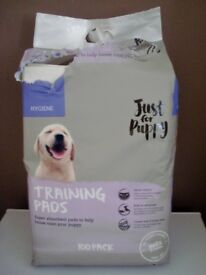 BRAND NEW PACK OF 100 PUPPY TRAINING PADS WITH ONLY 9 USED - BLACKPOOL