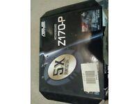 Asus Z170-P Motherboard plus heatsink and 4gb Ram