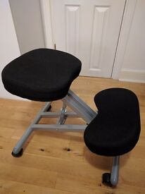 KNEELING / POSTURE CHAIR SILVER STEEL KEEPS YOUR BACK STRAIGHT
