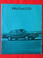 Ford LTD 1984 brochure