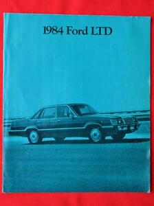 Ford LTD 1984 brochure Regina Regina Area image 1