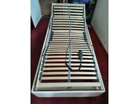 Single electric adjustable bed