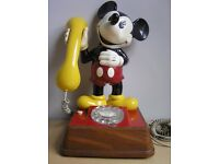 Vintage 1980's Mickey Mouse Phone