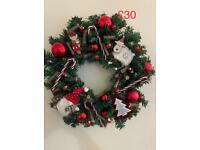 🎄handmade artificial wreaths 🎄