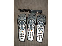 3 Sky Remotes and a Wireless connector mini (listed till sold)