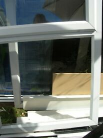 White upvc frame and double glazed unit