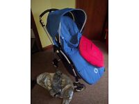 Bugaboo bee plus with 2 hoods, seat cover and footmuff