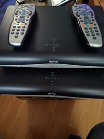 2 x Sky Plus Box & 2 Sky Remote Controls Both DRX890 MODEL £20