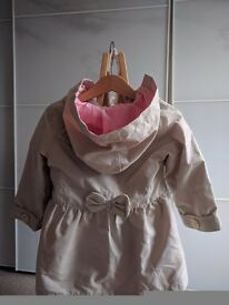 Chick Mothercare coat - girls 12 to 18 months