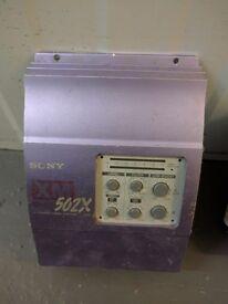 Sony XM-502X Car Amplifier Old Skool 1998 Mono / 2 Channel Subwoofer