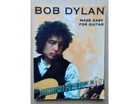 BOB DYLAN (Made Easy For Guitar) TAB BOOK. (Words & Music)