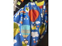 John Lewis Unisex Children's Blackout Curtains, Blue, with Matching Cushions