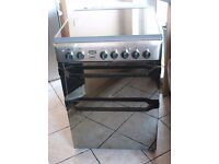 6 MONTHS WARRANTYMirror Look Indesit 60cm, double oven electric cooker FREE DELIVERY