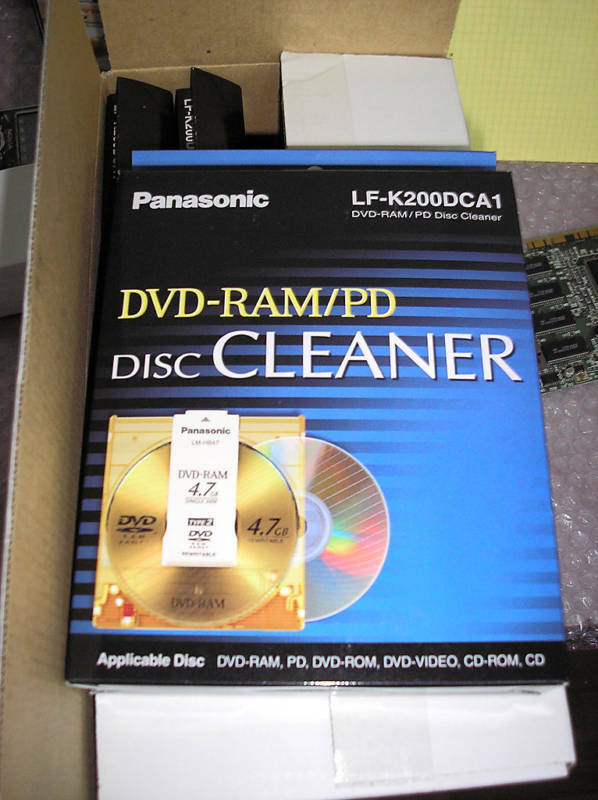 5x Panasonic LF-K200DCA1 DVD-RAM/PD Disc Cleaners - NEW!