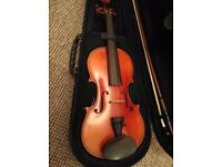 3/4 Violin with case and bow